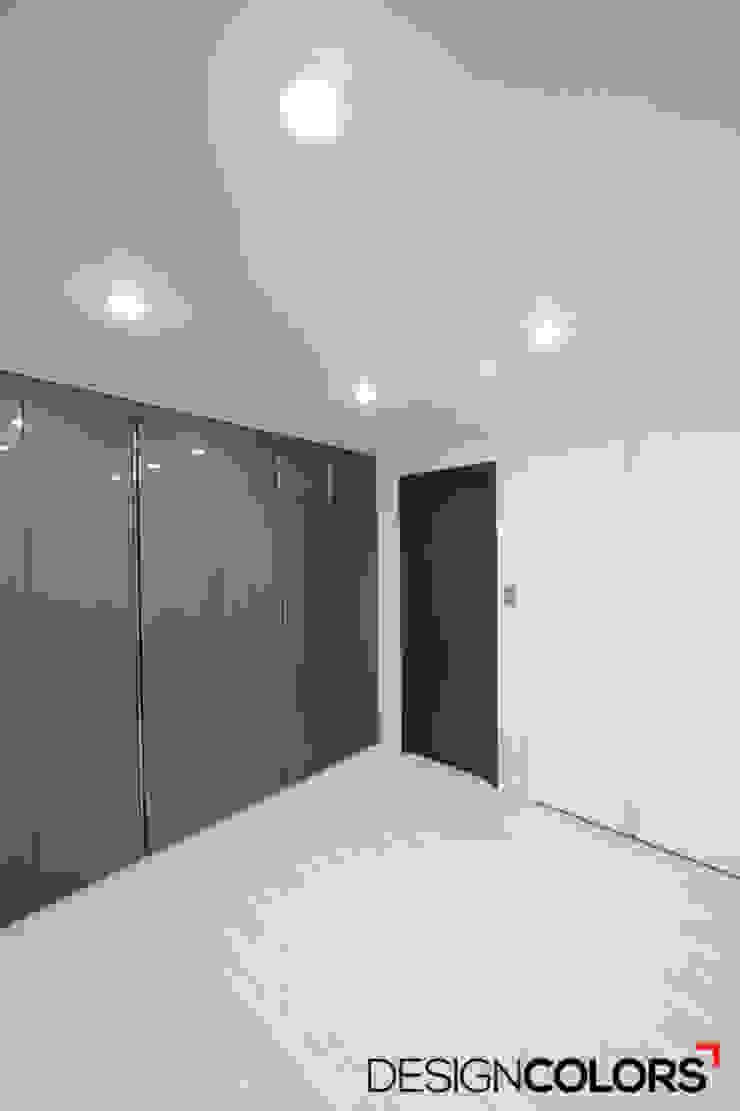 구로구 신도림동 e편한세상 아파트 인테리어 34평 모던스타일 미디어 룸 by DESIGNCOLORS 모던