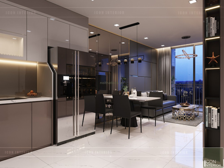 Thiết kế nội thất căn hộ Richstar Novaland – Phong cách hiện đại Phòng ăn phong cách hiện đại bởi ICON INTERIOR Hiện đại