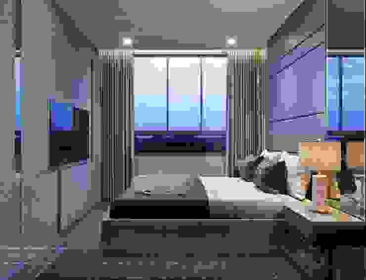 Thiết kế nội thất căn hộ Richstar Novaland – Phong cách hiện đại Phòng ngủ phong cách hiện đại bởi ICON INTERIOR Hiện đại