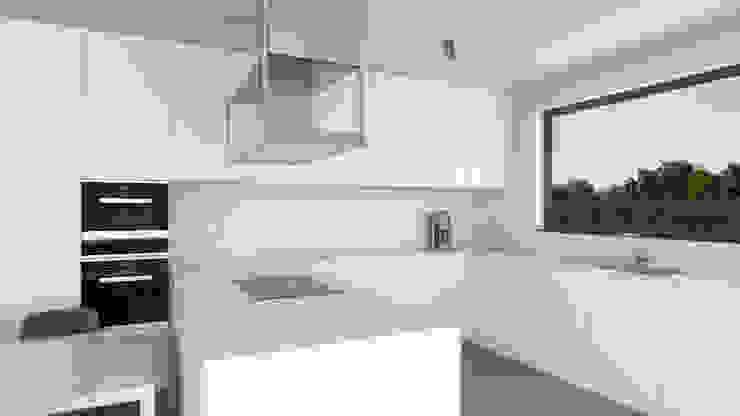 Cocinas de estilo moderno de Dündar Design - Mimari Görselleştirme Moderno