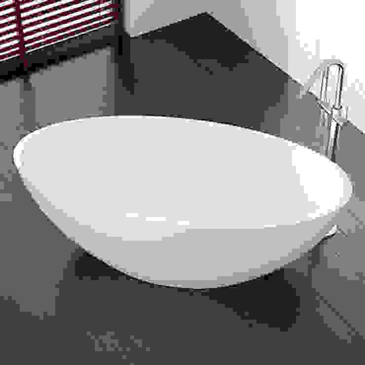 Einzigartige freistehende Badewanne BW-04 L: modern  von Badeloft GmbH - Hersteller von Badewannen und Waschbecken in Berlin,Modern