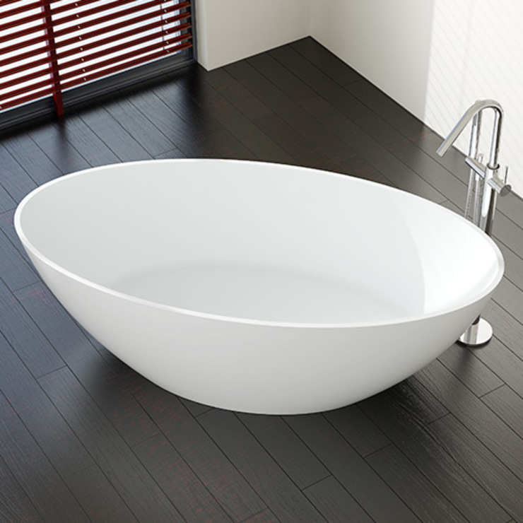 Stylische freistehende Badewanne BW-05: modern  von Badeloft GmbH - Hersteller von Badewannen und Waschbecken in Berlin,Modern