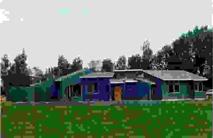 Casas de eco cero - Arquitectura sustentable en Talca Moderno Concreto