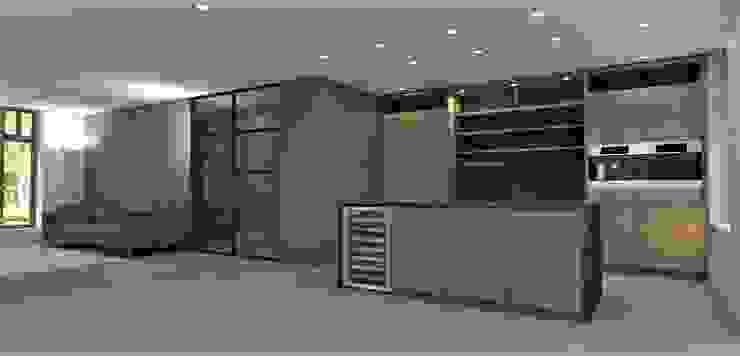 Keuken walnoot met zwart marmer Moderne keukens van Studio DEEVIS Modern
