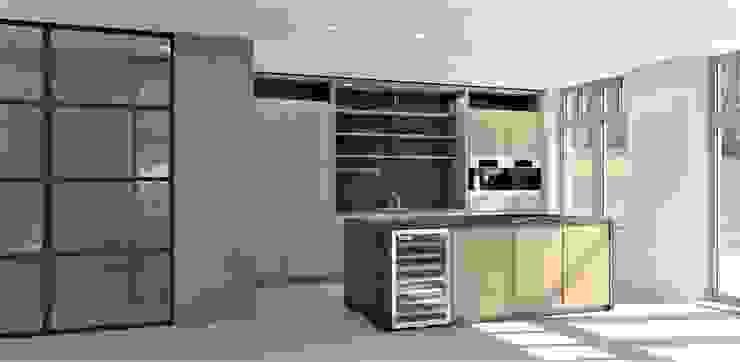 Keuken met zwart marmer Moderne keukens van Studio DEEVIS Modern Marmer