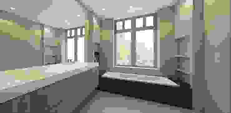 Moderne badkamer met zwart marmer Moderne badkamers van Studio DEEVIS Modern Marmer