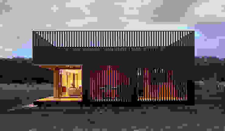 Residenz in campagna - facciata esterna di Ecospace Italia srl Moderno Legno Effetto legno