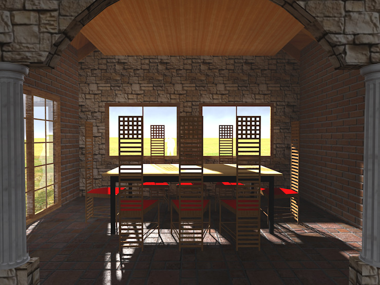 Country style dining room by Vicente Espinoza M. - Arquitecto Country
