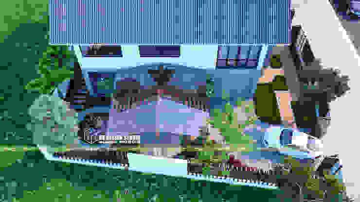 Biệt thự sân vườn bởi UK DESIGN STUDIO - KIẾN TRÚC UK Châu Á