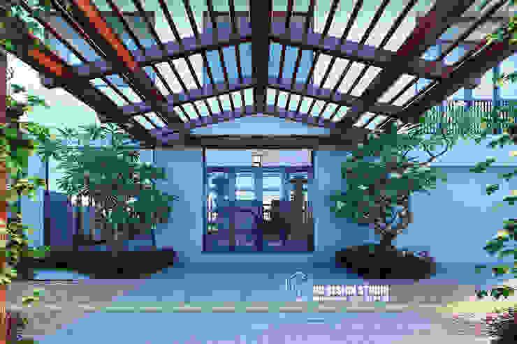 Thiết kế mái kính Nhà kính phong cách mộc mạc bởi UK DESIGN STUDIO - KIẾN TRÚC UK Mộc mạc
