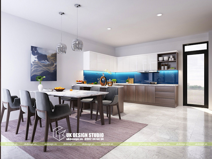 Nội thất phòng ăn Phòng ăn phong cách hiện đại bởi UK DESIGN STUDIO - KIẾN TRÚC UK Hiện đại