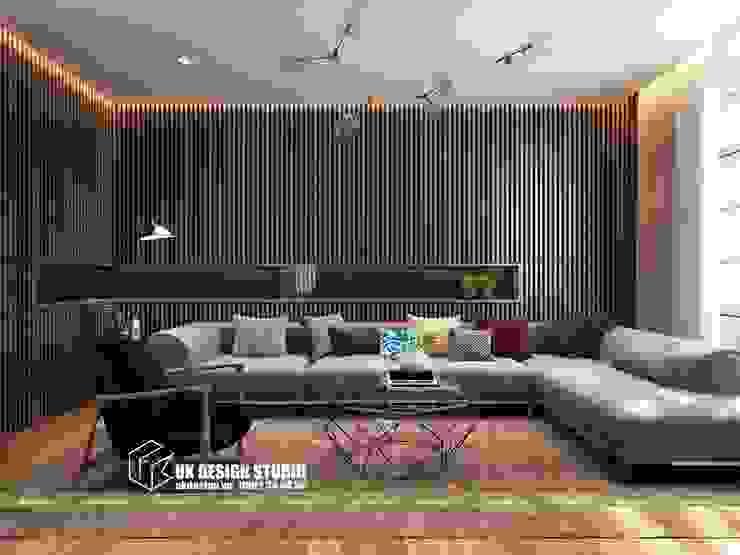 Nội thất phòng khách bởi UK DESIGN STUDIO - KIẾN TRÚC UK Hiện đại