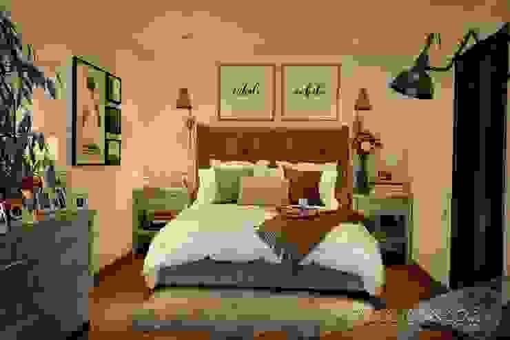студия Design3F Dormitorios de estilo ecléctico Beige