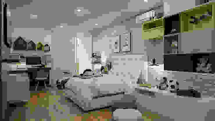 Diseño y decoración de habitación para niño de Cindy Castañeda Moderno