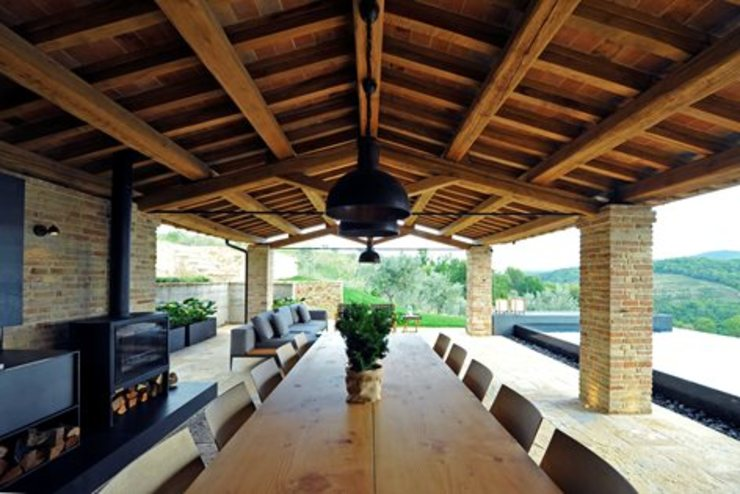 Nico Van Der Meulen Architects Modern balcony, veranda & terrace