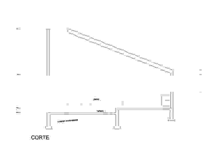 Corte Casas modernas de mutarestudio Arquitectura Moderno