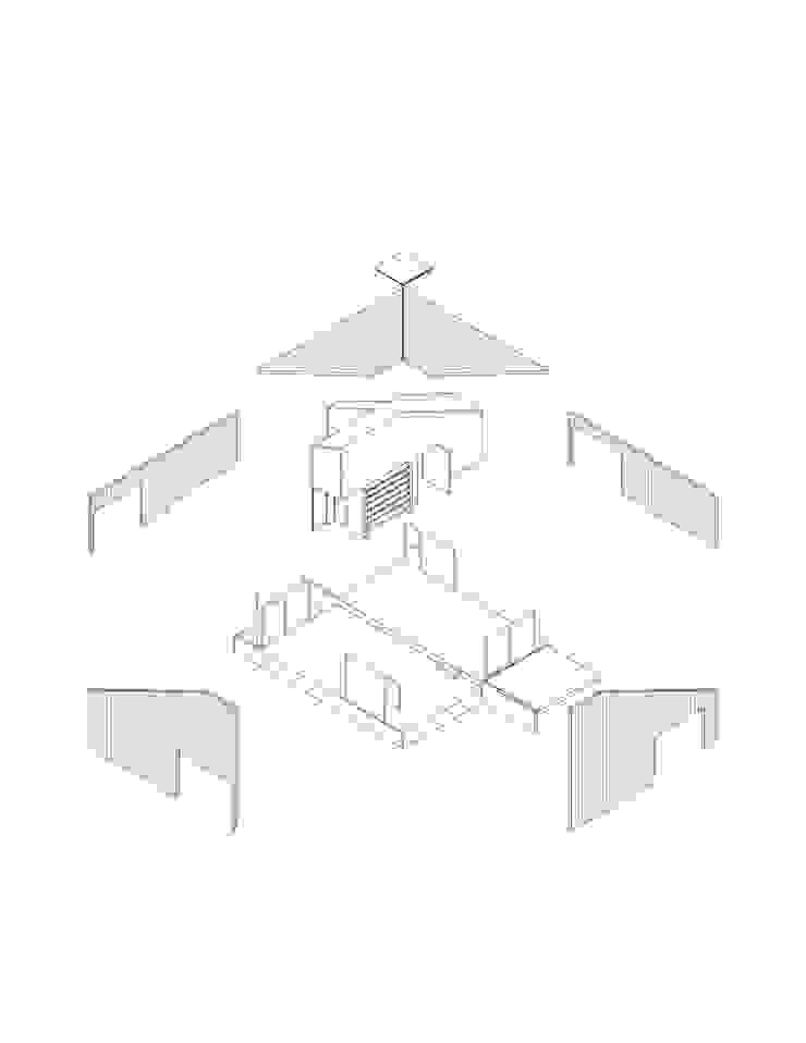 Isométrica Desplegada Casas estilo moderno: ideas, arquitectura e imágenes de mutarestudio Arquitectura Moderno