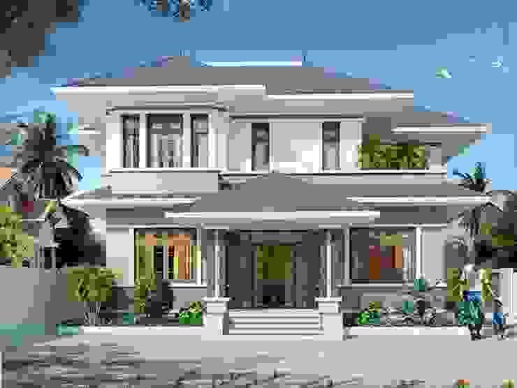 Gom ngay 8 mẫu nhà phố 2 tầng có thiết kế mái Thái độc đáo bởi Kiến Trúc Xây Dựng Incocons