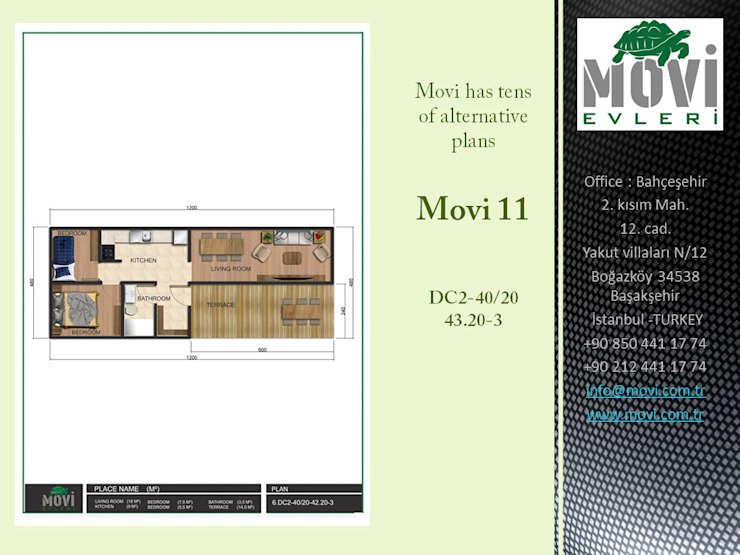 MOVI SHIPPING CONTAINER HOMES 1 MOVİ evleri Prefabrik ev