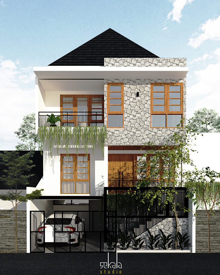 Casas modernas de SEKALA Studio Moderno Ladrillos