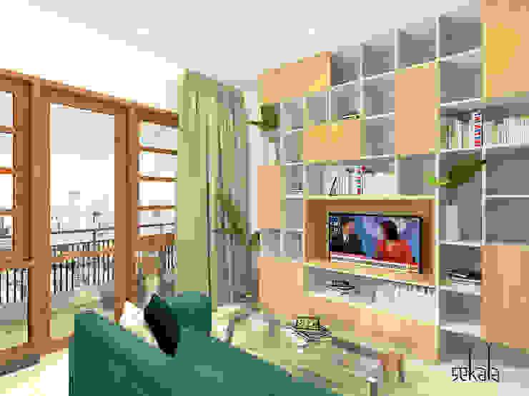 Living Room (Ruang Keluarga) 2nd floor Ruang Keluarga Modern Oleh SEKALA Studio Modern Batu Bata