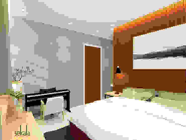 Habitaciones modernas de SEKALA Studio Moderno Derivados de madera Transparente