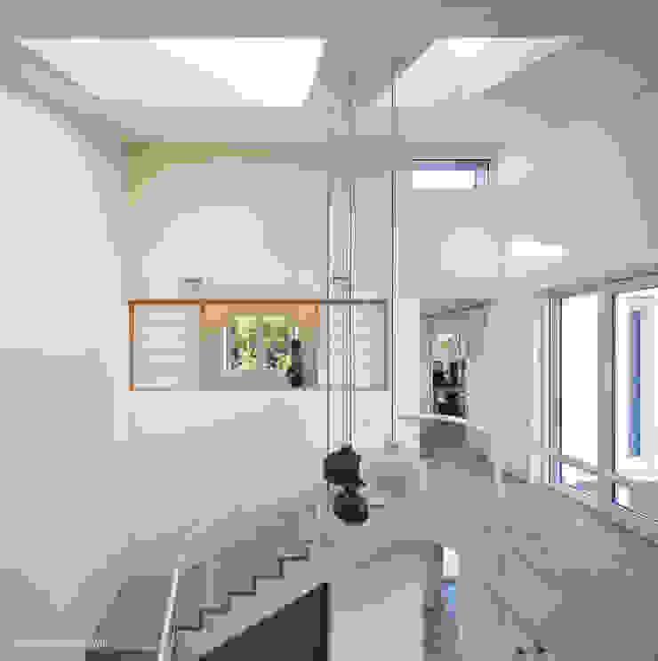 2층 보이드 공간_계단실 by 건축사사무소 모뉴멘타 모던 우드 우드 그레인