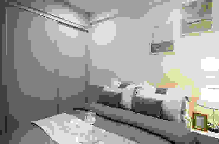 Wiejska sypialnia od 北歐制作室內設計 Wiejski
