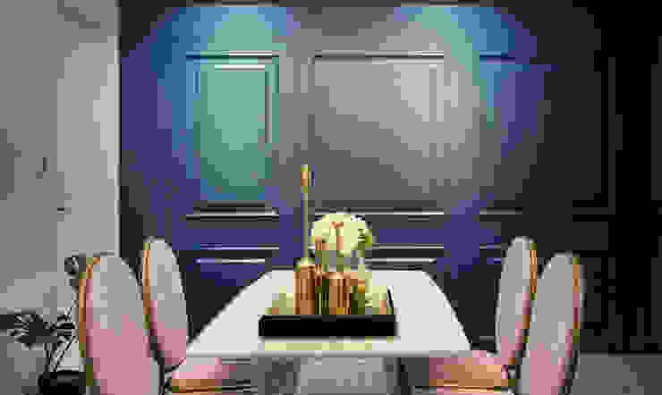 Столовая комната в стиле кантри от 北歐制作室內設計 Кантри