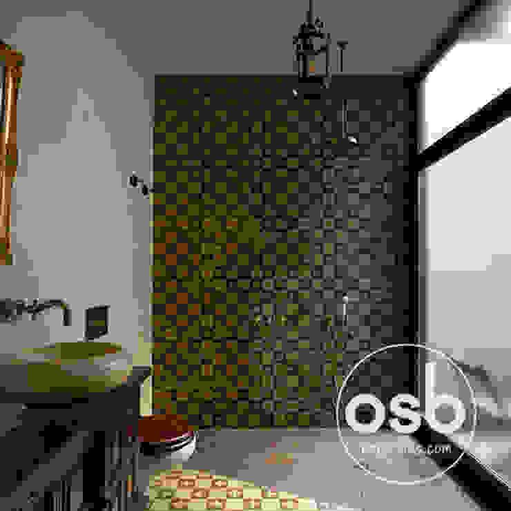ducha de obra Baños de estilo rústico de osb arquitectos Rústico