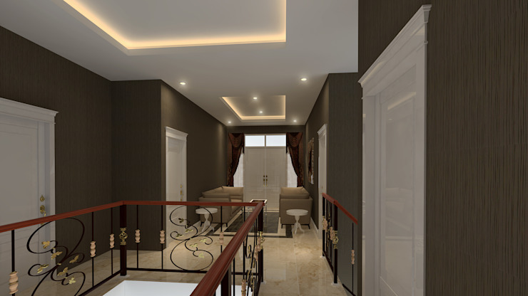 Classic style corridor, hallway and stairs by Arsitekpedia Classic