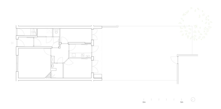 Floor Plan Before by Kevin Veenhuizen Architects