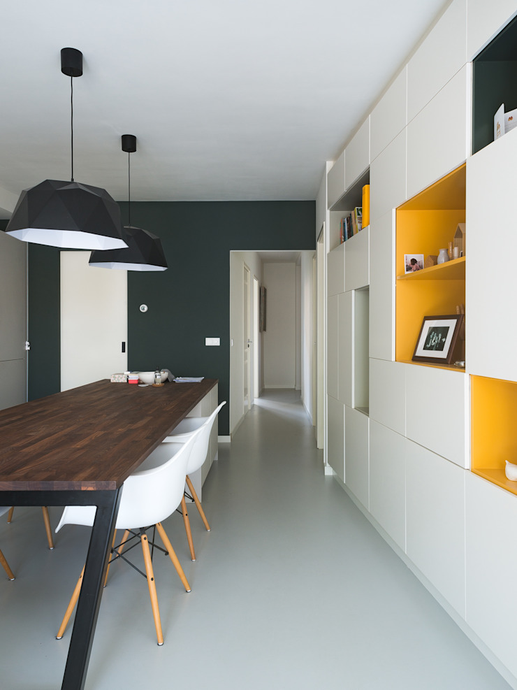 Interior View Modern Corridor, Hallway and Staircase by Kevin Veenhuizen Architects Modern