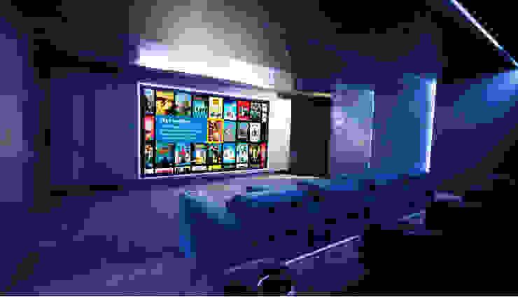 Salas de entretenimiento de estilo minimalista de HOME Technology Designers Minimalista