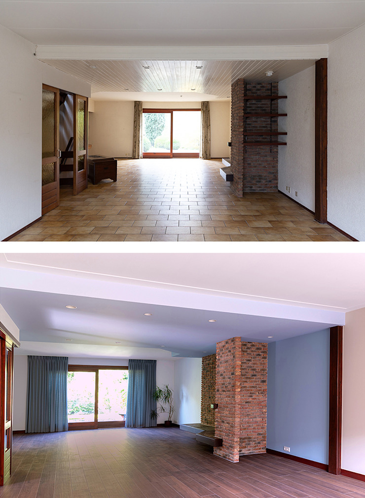 Woonkamer (achter) Moderne woonkamers van Regina Dijkstra Design Modern