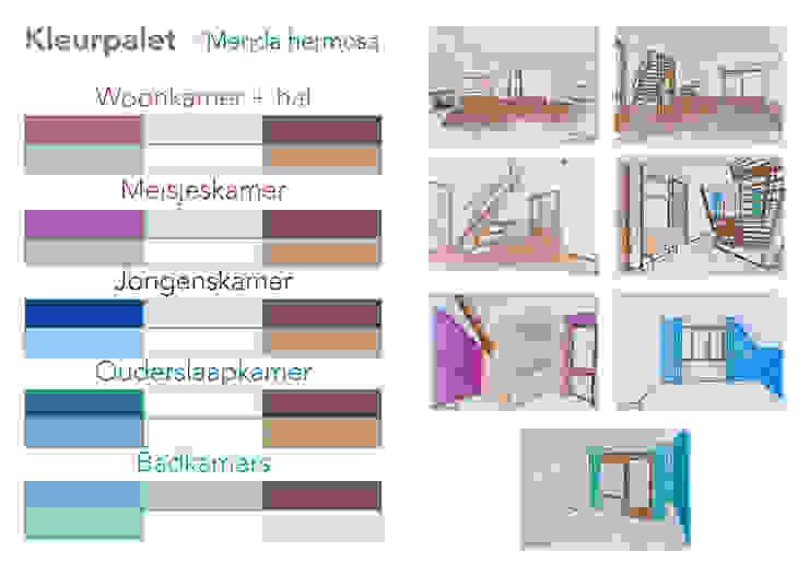 Het kleurpalet: modern  door Regina Dijkstra Design, Modern