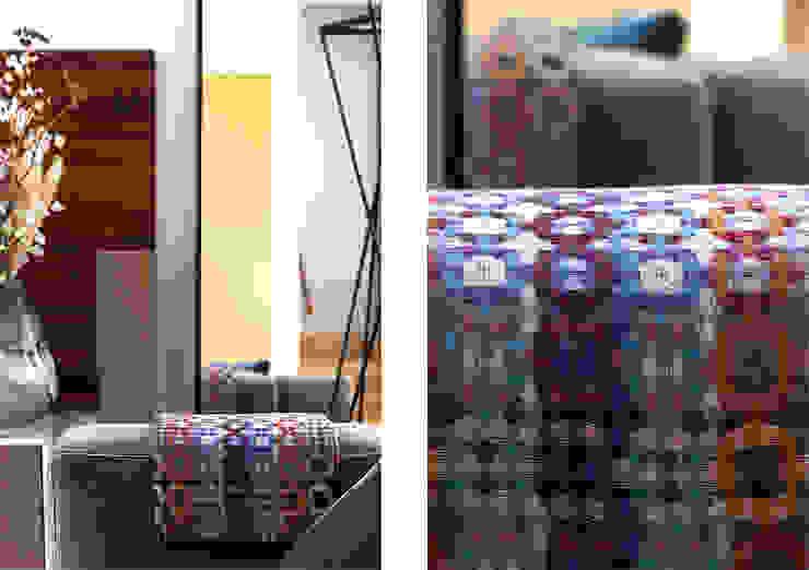 Close up / detail zithoek Moderne woonkamers van Regina Dijkstra Design Modern