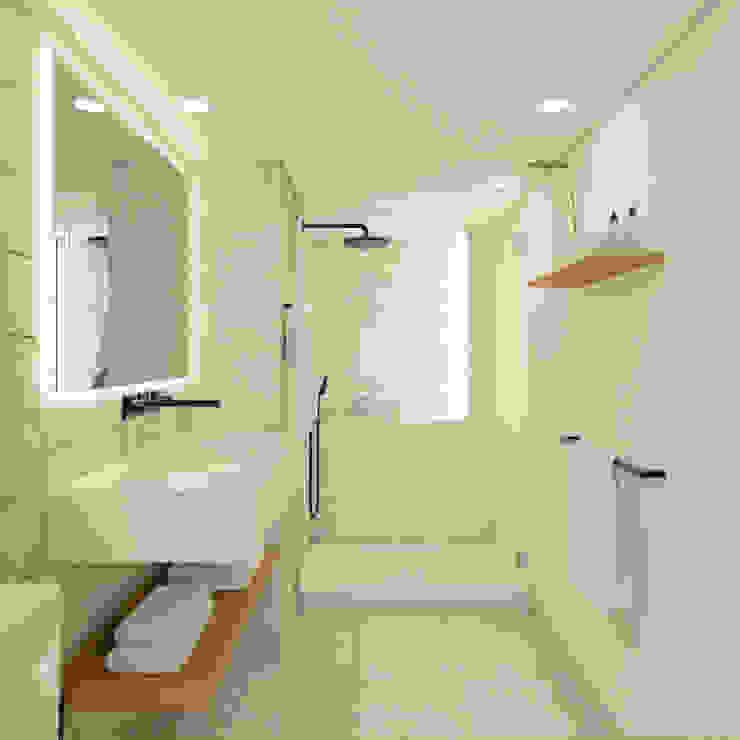 Apartamento em Lisboa meta.atelier Casas de banho minimalistas Branco