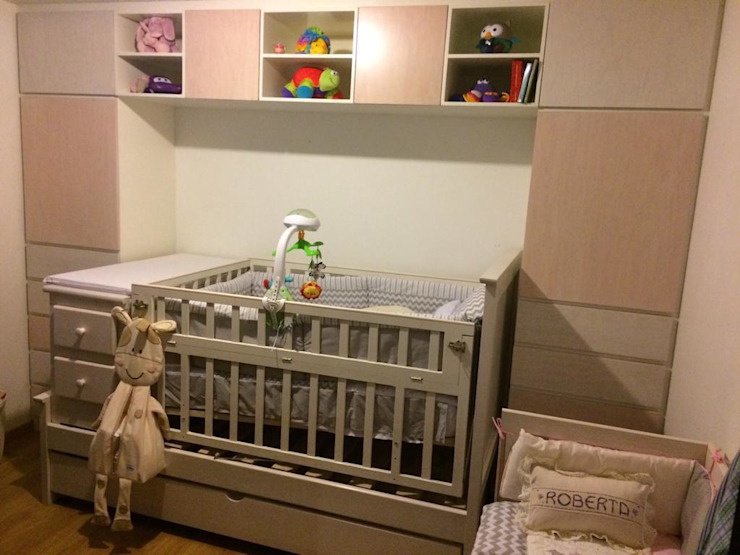 Remodelación de Condominio: Recámaras infantiles de estilo  por SHADOW,