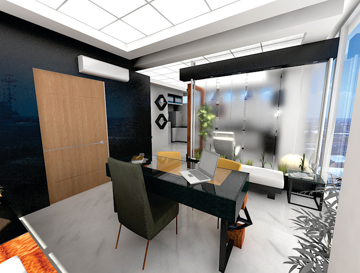 Ruang Studi/Kantor Minimalis Oleh Arqca Minimalis