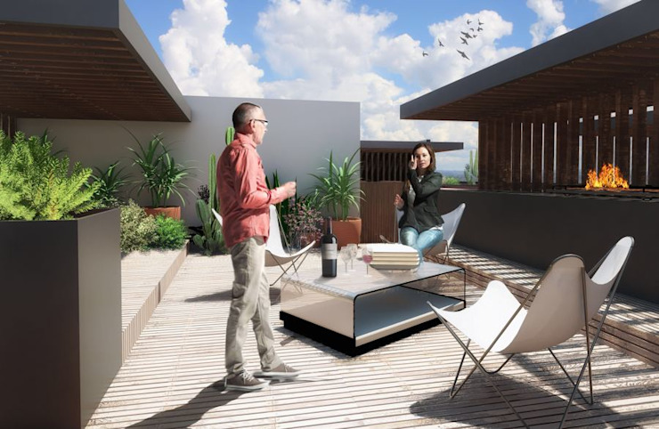 ROOF GARDEN Prototype studio Casas modernas