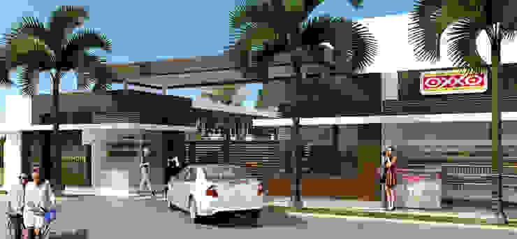 Acceso / Conjunto residencial Trapiche Houses / Ibagué - Colombia Casas modernas de Taller 3M Arquitectura & Construcción Moderno Concreto