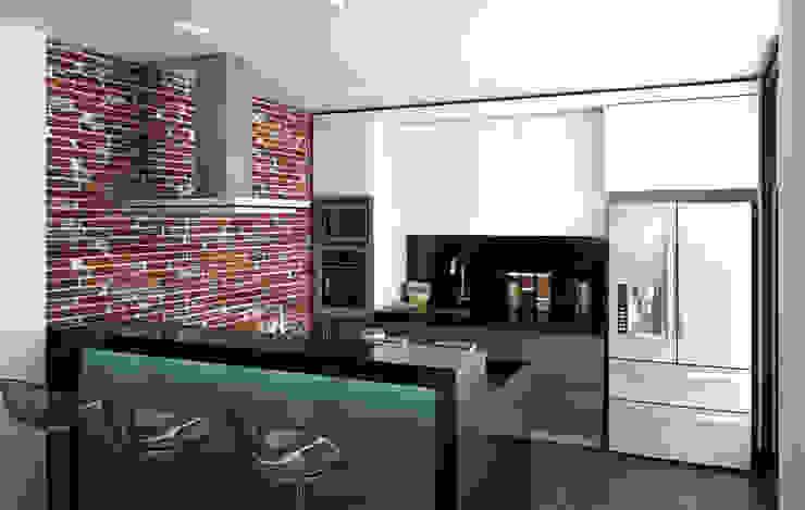 cocina / Conjunto residencial Trapiche Houses / Ibagué - Colombia Cocinas modernas de Taller 3M Arquitectura & Construcción Moderno Ladrillos