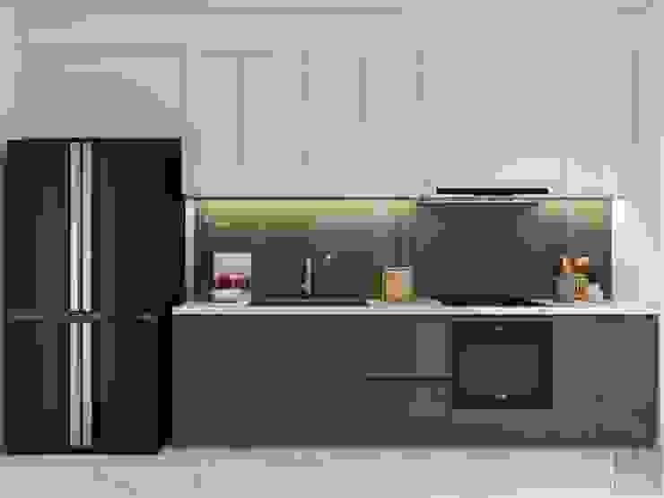 Thiết kế nội thất phong cách hiện đại tiện nghi tại căn hộ Vinhomes Central Park Nhà bếp phong cách hiện đại bởi ICON INTERIOR Hiện đại