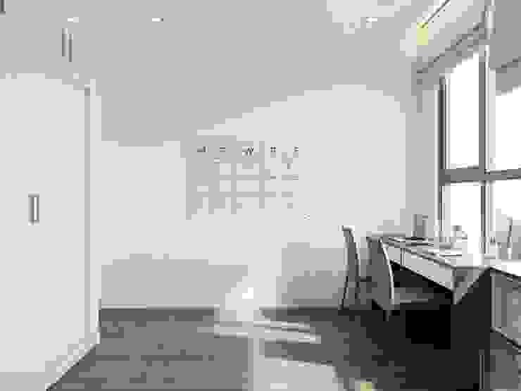Thiết kế nội thất phong cách hiện đại tiện nghi tại căn hộ Vinhomes Central Park Phòng học/văn phòng phong cách hiện đại bởi ICON INTERIOR Hiện đại