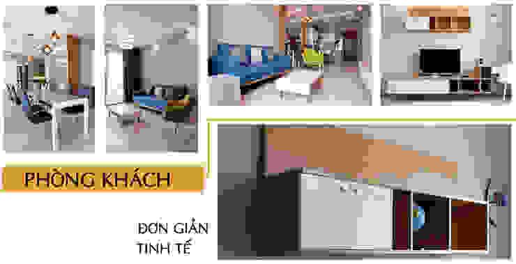Thiết kế thi công nội thất căn hộ chung cư Goldview Quận 4 bởi Công ty TNHH Nội Thất Sense Home Hiện đại