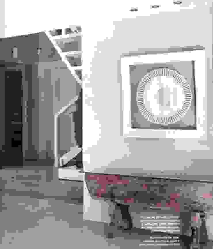 Officina Boarotto Pasillos, vestíbulos y escaleras minimalistas