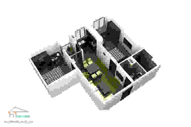 Mẫu dự án thiết kế nội thất căn hộ chung cư quận 7 bởi Hoàn Thành Group