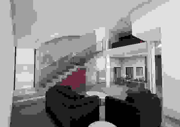 Moradia - espaço interior - sala de estar Salas de estar modernas por Arqvoid - Arquitetura e Serviços, Lda. Moderno