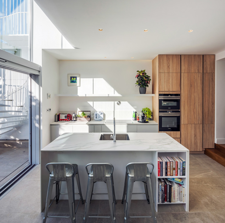 De Beauvoir House Neil Dusheiko Architects Modern kitchen